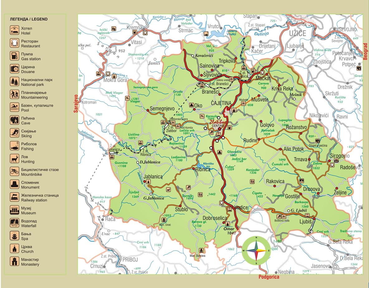 mapa zlatibor Zlatibor   Vikend na ZlatiboruVikend na Zlatiboru mapa zlatibor